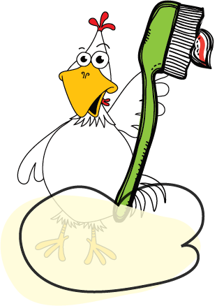 toothbrush chicken